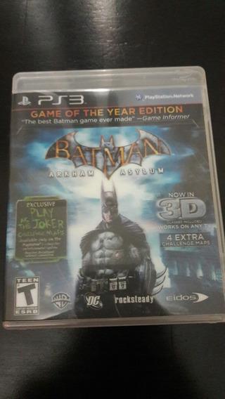 Batman Arkham Asylum 3d + 2 Oculos 3d Ps3