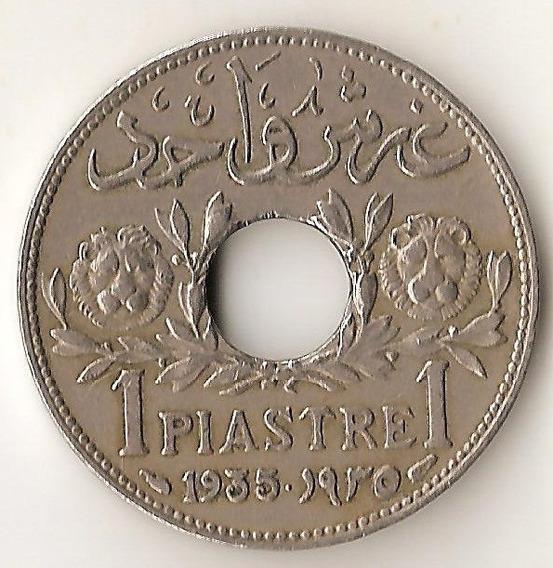 Siria Francesa, Piastre, 1935. Vf