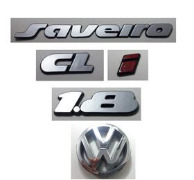 Kit Emblema Volkswagen Saveiro Cl I 1.8 Vw Grade 90 91 À 97