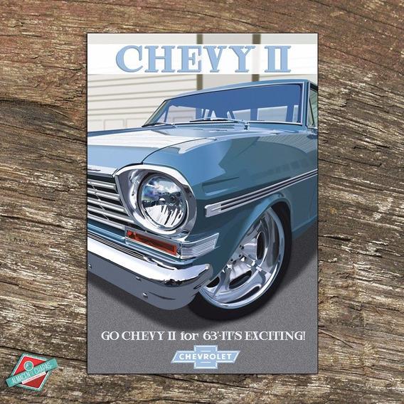 Cuadro De Aluminio Retro Vintage - Chevy 63 - Oferta!!!