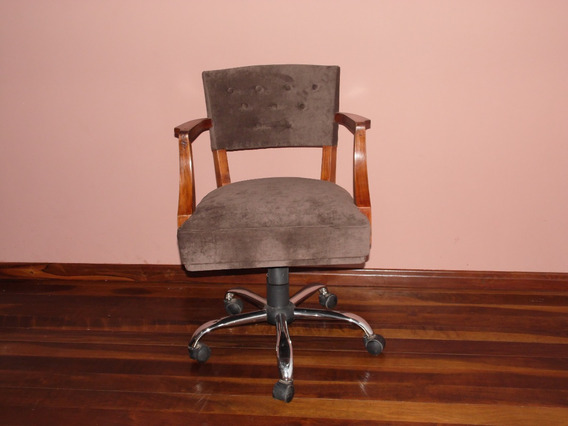 Cadeira Antiga Design 1954.estofado Novo, Molas Originais.