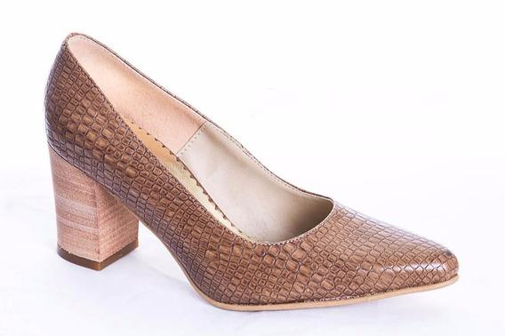 Zapato Stiletto Cuero Mujer Art 9300. Marca Lorena Bs As