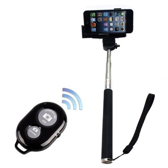 Bastão Selfie Monopod + Controle Bluetooth