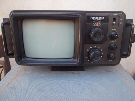 Televisão Portátil Panasonic Tr-707 Preto/branco