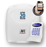 Central De Alarme Active 20 Ultra + Bateria Selada