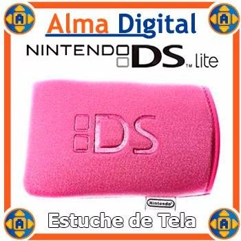 Estuche Tela Gruesa Nintendo Ds Lite Rosado Forro Protector