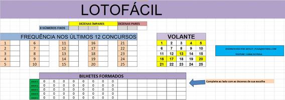 Planilha Lotofacil - Ajuda Escolher Numeros Fixos