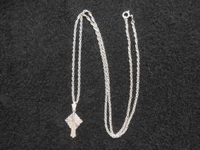 Antiga Correntinha Crucifixo - Anos 60 - Prata 900 - 5,04g