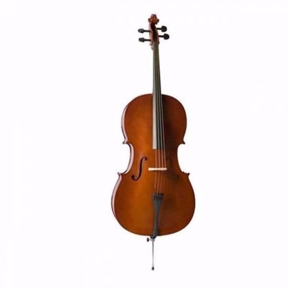 Valencia Ce160f Cello Estudio 4/4 Estilo Frances Solido Fund