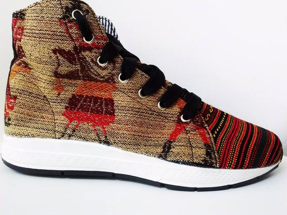 Zapatillas Botitas De Aguayo Diseño Exclusivas Unicas