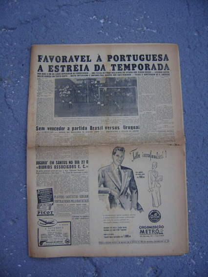 Jornal Diário Da Noite S. Paulo 1949