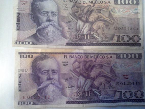 Billetes Mexicanos Carranza 100 Pesos Remate