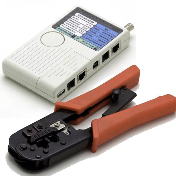 Kit Testador Cabo Startech E Alicate Crimpar Rj11 Rj12 Rj45