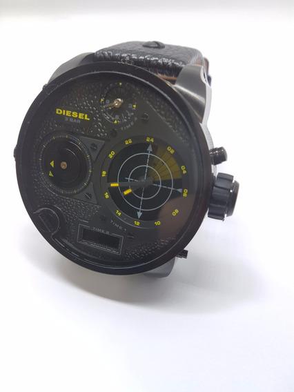 Relógio Diesel Dz7296 Pulseira Couro