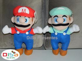 Kit Super Mario Bros. Com Mario E Luigi 25 Cm Pronta Entrega