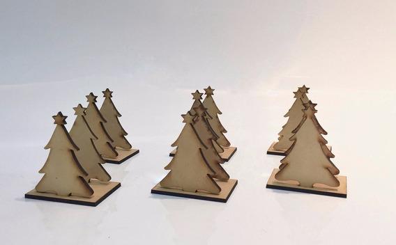 10 Servilleteros Pinito Navidad Candybar Mdf Fibrofacil 3mm