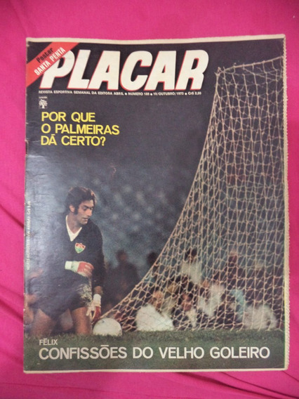 Revista Placar Nº 188 Poster Santa Cruz Do Recife De 1973