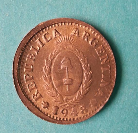 Moneda De Argentina Mal Acuñada Año 1948 Sin Circular