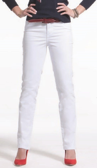 Calça Jeans Feminina Skinny Branca Com Swarovski Tamanho 42