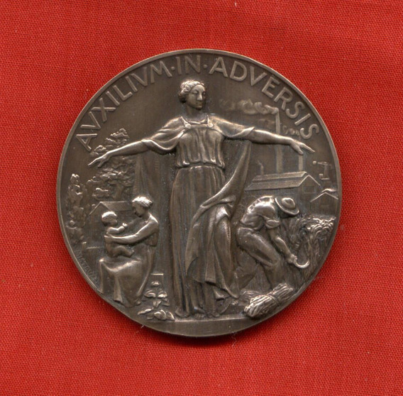 Medalla Auxilium In Adversis Riunione Adriatica Di Sicurta