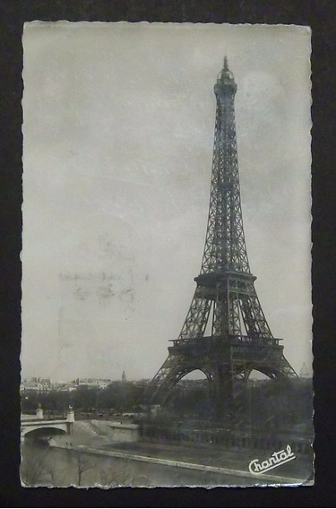 Postal Francia París Torre Eiffel Usada Exc 1951