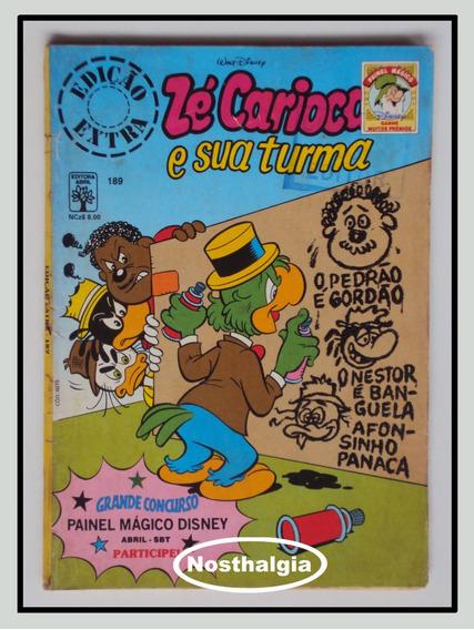 Edição Extra - N.189 - Zé Carioca Abril - Anos 80 - F(1038)