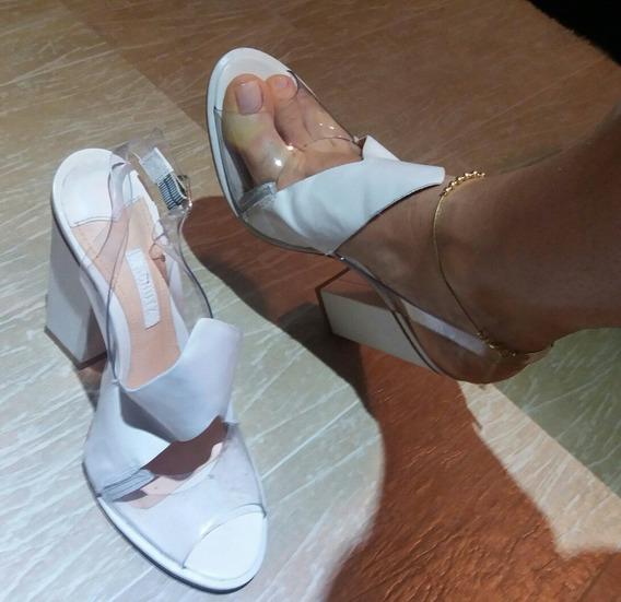 Sandália Branca Shultz 36