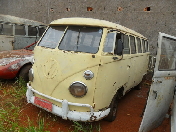 Kombi Vw Van Corujinha 1974 P/ Restaurar - Tem Docks E Motor