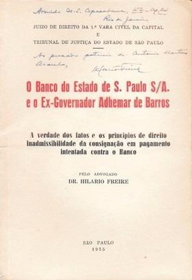 O Banco De São Paulo E O Ex-governador Adhemar De Barros
