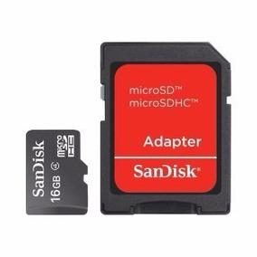 Cartão De Memória Micro Sdhc Com Adaptador Sandisk 16 Gb
