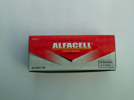 Pilha Pequena (aa) + Pilha Palito (aaa) Alfacel Cx C/ 60+60