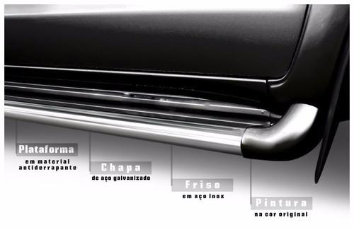 Imagem 1 de 5 de Estribo Personalizado Cor Preto Fosco Fiat Toro 2016 2021