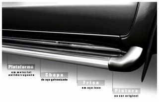 Estribo Personalizado Cor Preto Fosco Fiat Toro 2016 2020