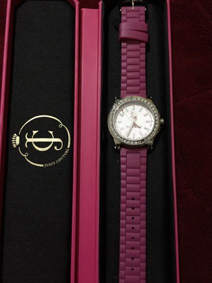 Relógio Juicy Couture Silicone E Cristais (brechó Da Ana)
