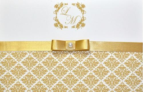 Imagem 1 de 4 de 20 Convites De Casamento - Papel 240gr. - Ct04