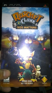 Ratchet Y Clank Size Matters - Demo - Psp