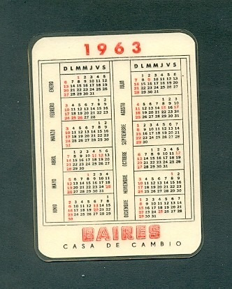 Calendario 1963.Baires Antiguo Calendario Bolsillo Ano 1963 40 00