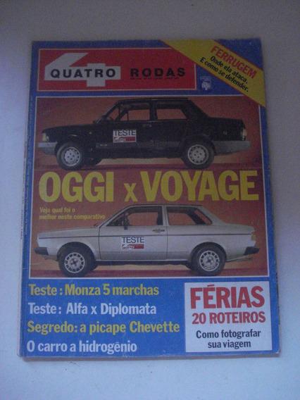 Quatro Rodas 275 Ano 1983 Oggi Voyage Monza Opala