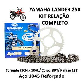 Kit Relação Completo Brandy Yamaha Xtz 250 Lander 09 À 17