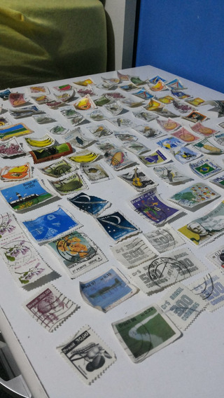 Coleção De Selos Com 117 Unidades