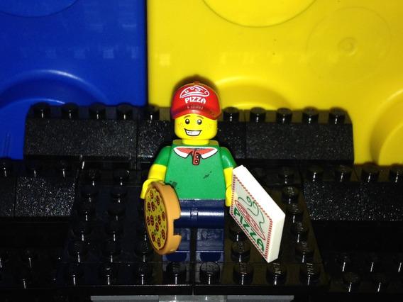 Lego Original Serie 12 Repartidor De Pizza #11