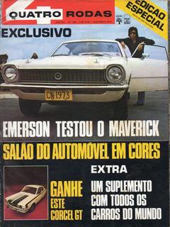 Quatro Rodas Nº149 Maverick Dodge Dart Gran Sedan Cupê Luxo