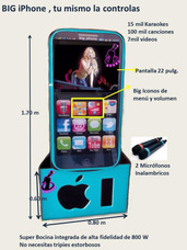 Renta Rockola Karaoke Big Iphone 5c, Ipod , Luz Y Sonido
