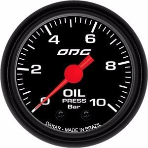 Manômetro Odg Dakar Óleo (oil)10kg 52mm Ft Step