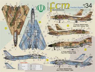 Decalque Fcm 48034 F14 Tomcats E Phantom Iriaf 1/48 Decal