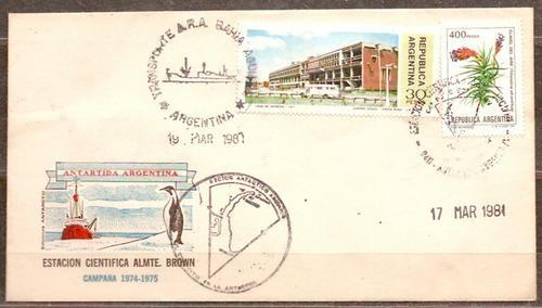 Antártida - Estación A. Brown - Sobre Color Campaña 1974/75