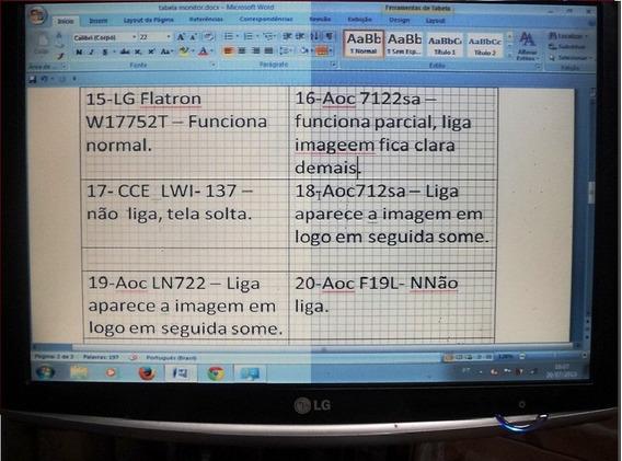 Monitor LG Flatron W17552-t - Funcionando