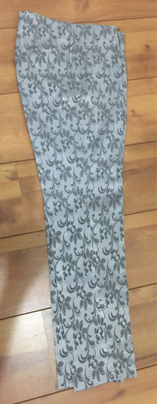 Calça Social-prata-tecido Adamascado