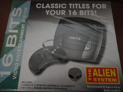 Video Juego  Consola Sega Allien 16 Bits