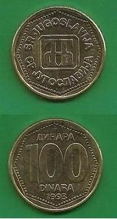 Grr-moneda De Yugoslavia 100 Dinara 1993